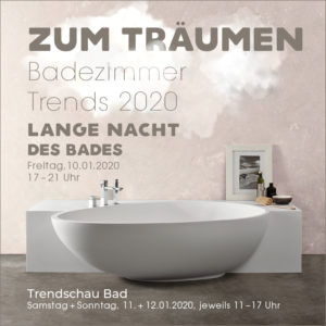 Badausstellung Badsanierung Baddesign Badrenovierung Faust Haßfurt Trendschau